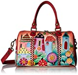 Hand Painted Leather Satchel